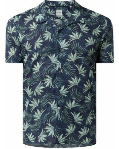 Koszula slim krótki rękaw - czarna S.oliver Black Label