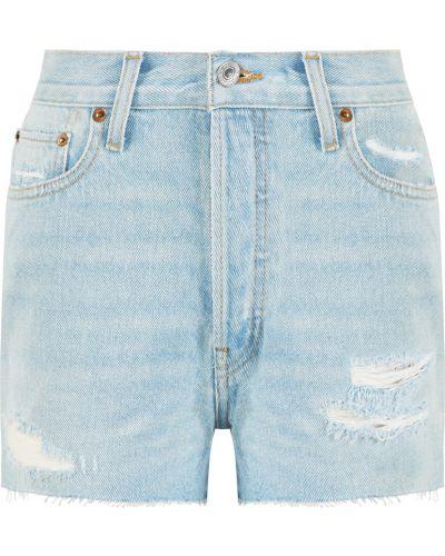 Джинсовые шорты короткие - синие Re/done