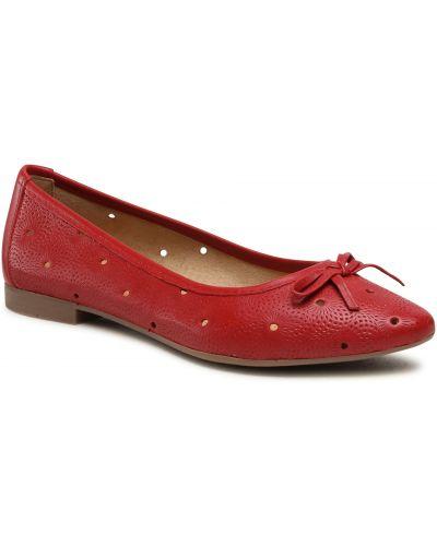 Czerwone balerinki Lasocki