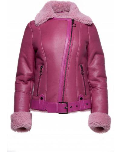Куртка-пилот из овчины - розовая Rozetka
