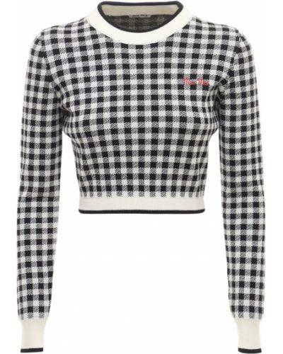 Черный шерстяной свитер Miu Miu