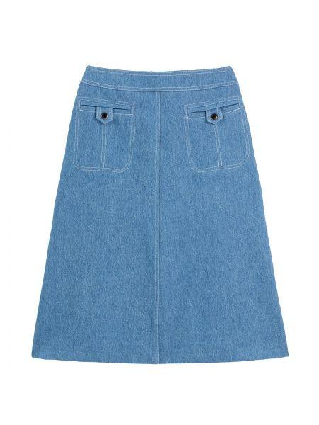 Юбка миди джинсовая винтажная La Redoute
