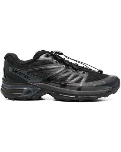 Кроссовки на шнуровке - черные Salomon S/lab