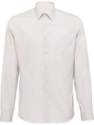 Koszula z długim rękawem długa włoski Prada