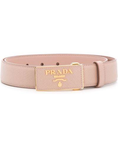 Ремень с логотипом с пряжкой Prada