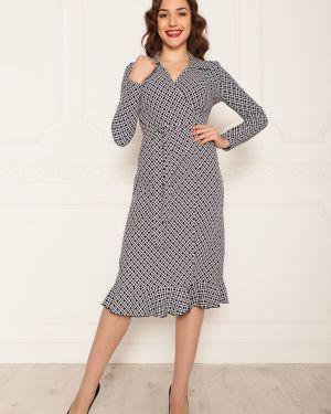 Платье с поясом с запахом с V-образным вырезом Lautus