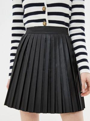 Черная кожаная юбка Grafinia