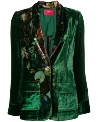 Пиджак с накладными карманами с цветочным принтом F.r.s. For Restless Sleepers