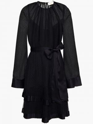 Платье мини атласное - черное Zimmermann