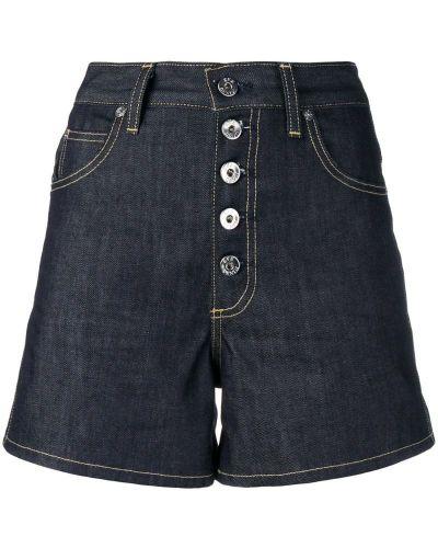Джинсовые шорты с карманами со стразами на пуговицах Eve Denim