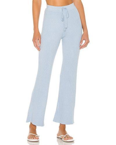Ze sznurkiem do ściągania markowe włókienniczy spodnie palazzo w połowie kolana Lovers + Friends