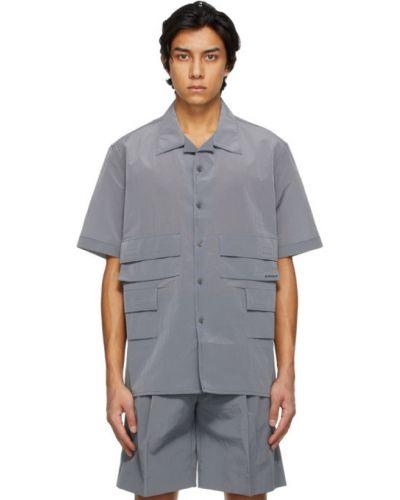 Koszula krótki rękaw z nylonu na rzepy Givenchy