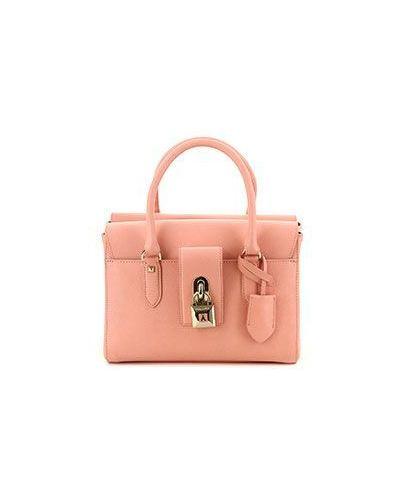 Кожаная сумка розовый сумка-тоут Patrizia Pepe