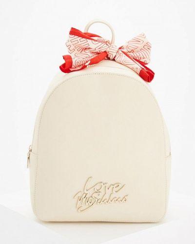 Бежевый рюкзак Love Moschino