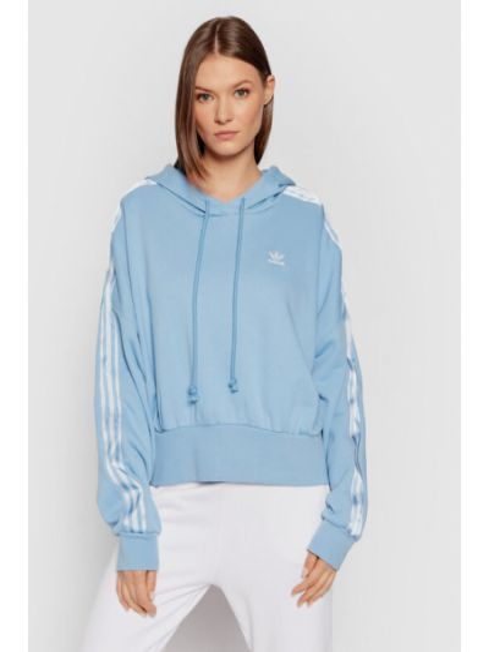 Niebieski satynowy dres Adidas Originals