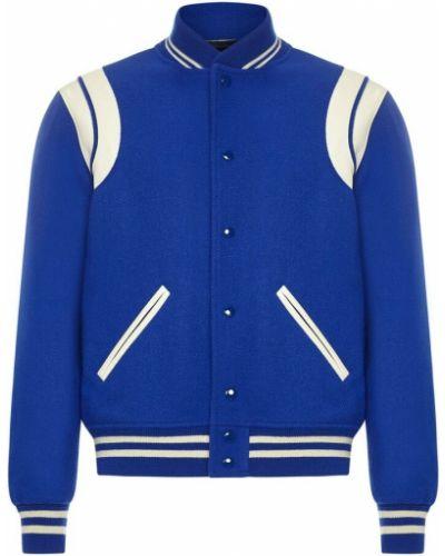 Niebieski płaszcz Saint Laurent
