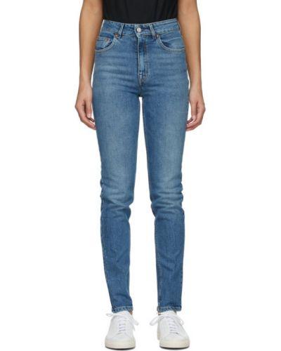 Кожаные черные джинсы с карманами Won Hundred