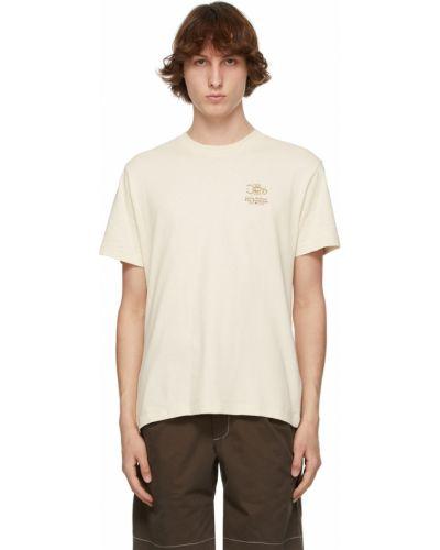 Beżowy t-shirt krótki rękaw bawełniany Carne Bollente