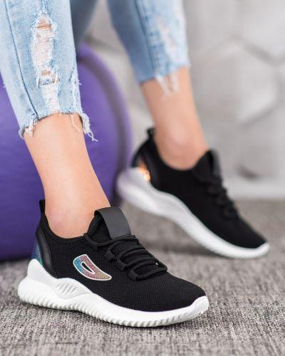 Czarne sneakersy materiałowe oversize Mckeylor
