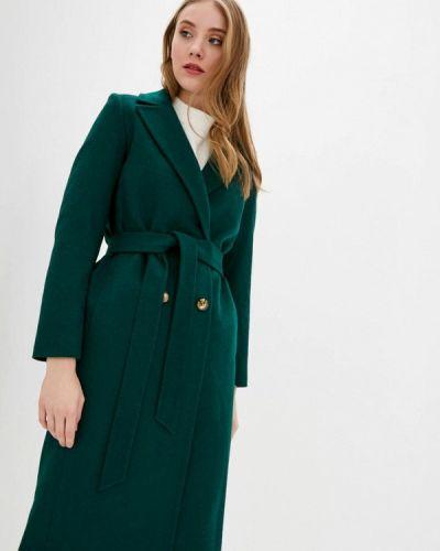 Зеленое пальто двубортное Florens