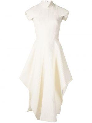 Biała sukienka z wiskozy Maticevski