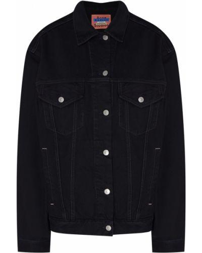 Джинсовая куртка черная на пуговицах Acne Studios
