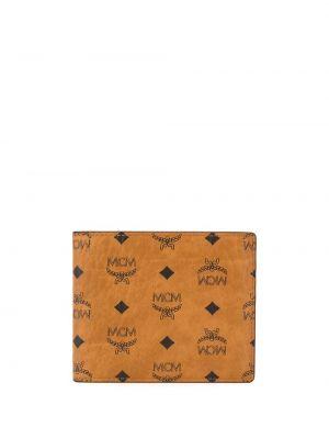 Brązowy portfel z printem Mcm