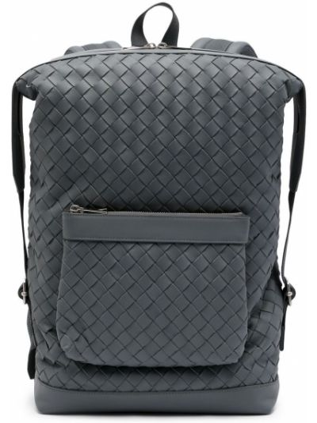 Кожаная сумка - серый Bottega Veneta