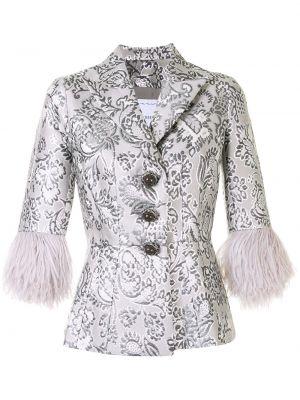 С рукавами серебряная куртка с манжетами металлическая Andrew Gn