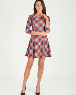 Платье со складками из вискозы Viserdi