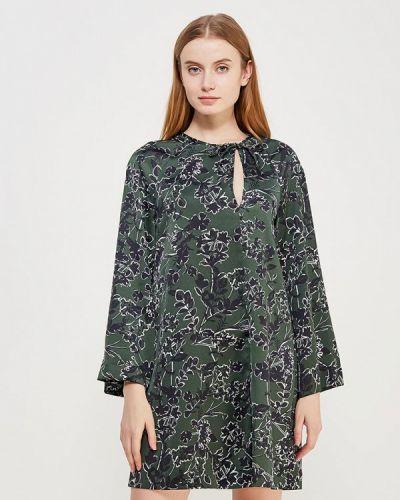 Зеленое платье с длинными рукавами Mango