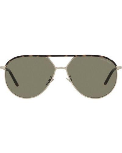 Żółte okulary Giorgio Armani