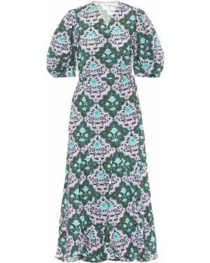 Zielona sukienka długa bawełniana Rhode