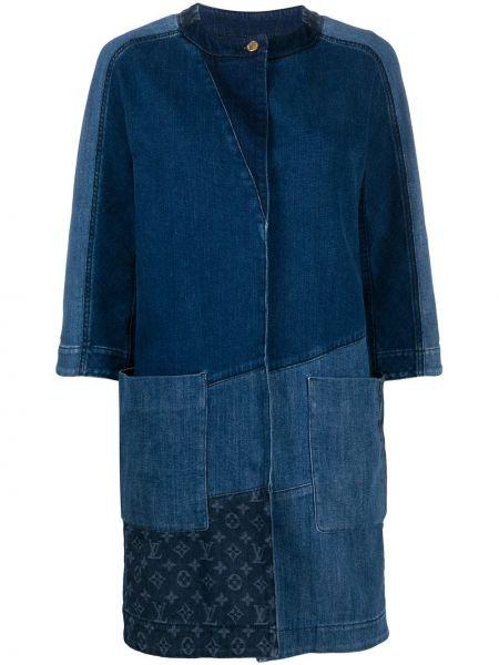 Хлопковая синяя джинсовая куртка винтажная Louis Vuitton