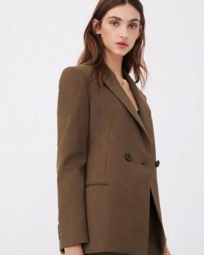 Коричневый пиджак Maje