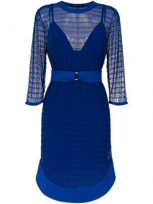 Синее платье из фатина с подкладкой Gloria Coelho