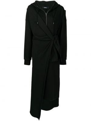 Хлопковое платье миди - черное Goen.j