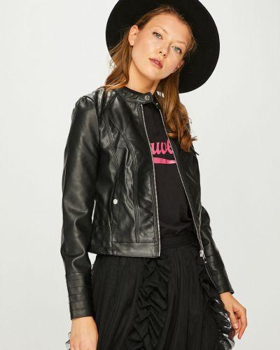 Кожаная куртка укороченная прямая Vero Moda