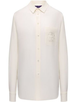 Шелковая блузка - белая Ralph Lauren
