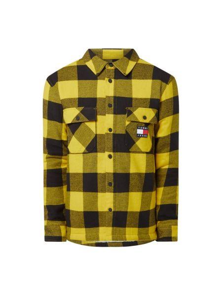 Żółta koszula jeansowa bawełniana Tommy Jeans