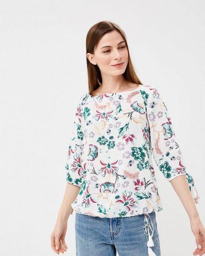 Белая блузка с открытыми плечами S.oliver