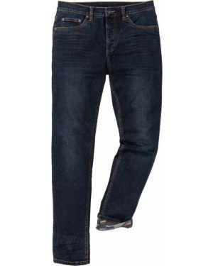 Прямые джинсы стрейч с карманами Bonprix