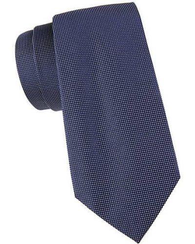Niebieski krawat z jedwabiu Armani Collezioni