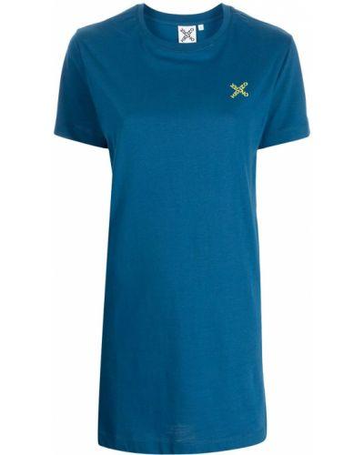 Платье мини короткое - синее Kenzo