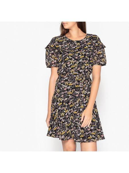 Платье мини на пуговицах с цветочным принтом Sessun