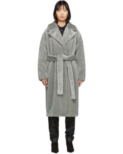 Длинное пальто оверсайз без воротника Tibi