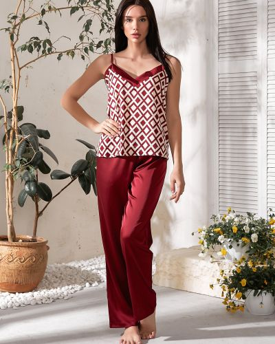 С ромбами пижамная хлопковая пижама с шортами Barwa Garments