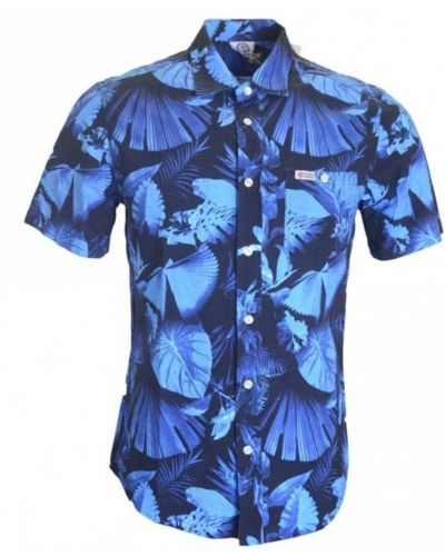 Рубашка с карманами - синяя Franklin & Marshall
