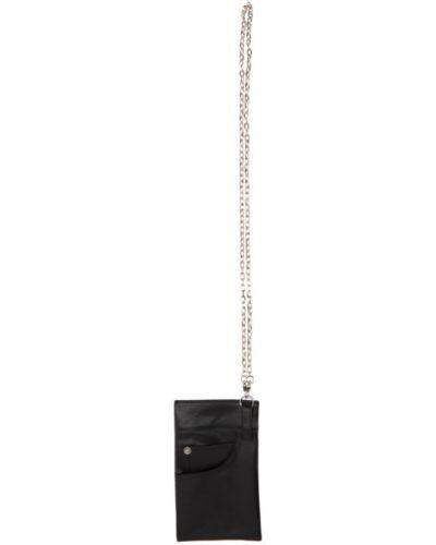 Czarny łańcuch ze srebra srebrny z paskiem Yohji Yamamoto