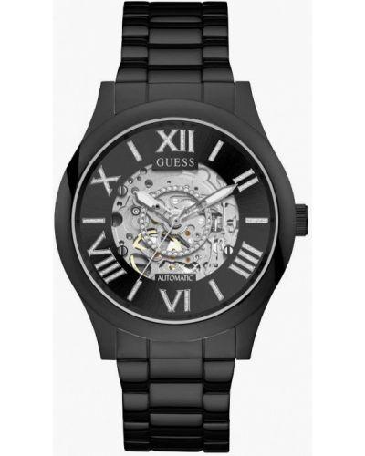 Черные часы Guess